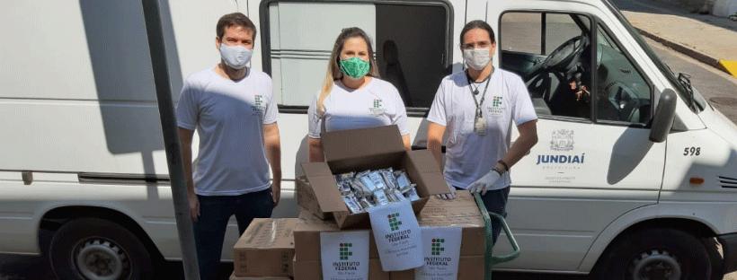 Câmpus Jundiaí faz doação de alimentos para o Fundo Social de Solidariedade