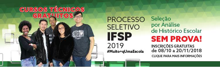 Processo Seletivo Cursos Técnicos - 1° semestre de 2019