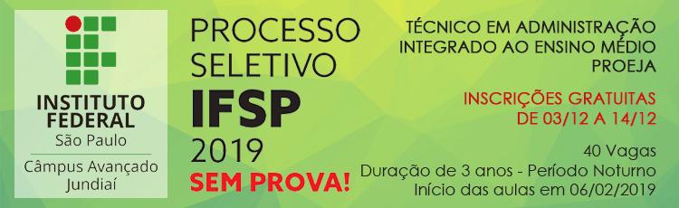 Processo Seletivo 2019 - Técnico em Administração ProEJA