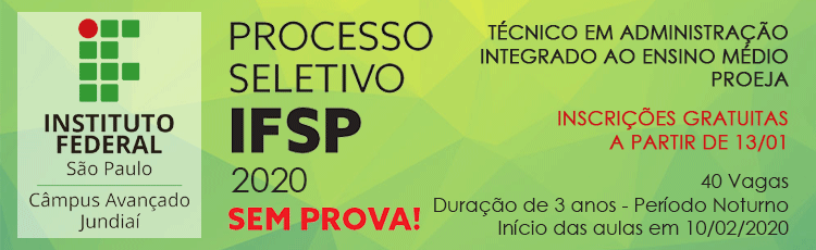 Processo Seletivo 2020 - Técnico em Administração ProEJA